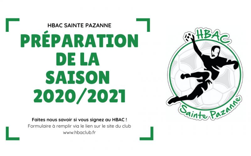 Préparation de la saison 2020/2021